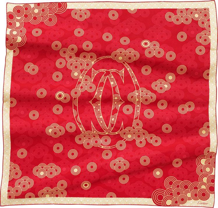 卡地亞2021農曆新年絲巾,12,800元。圖/卡地亞提供