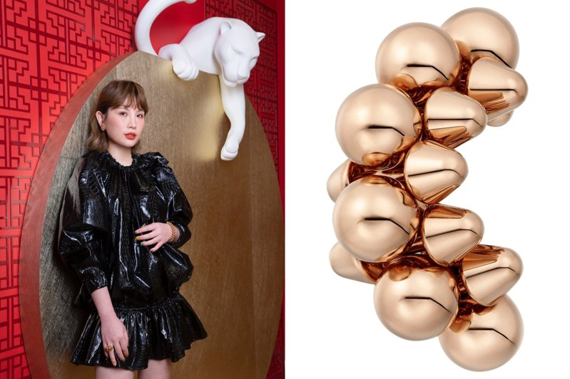 金曲歌后魏如萱演繹Clash de Cartier系列珠寶,出席台中卡地亞專賣店一周年活動。圖/卡地亞提供