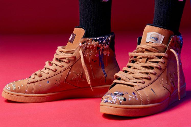 Converse與Bandulu聯名Pro Leather鞋3,780元。圖/C...