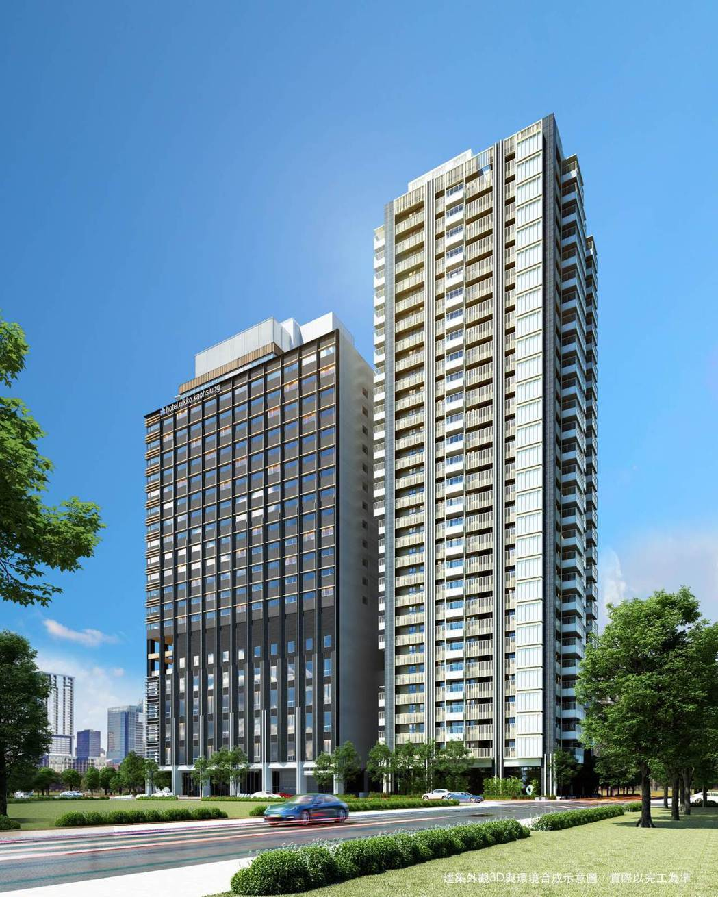 大陸建設攜手大和房屋集團首發進軍高雄推出「和陸寓邸」精品宅。圖/業者提供