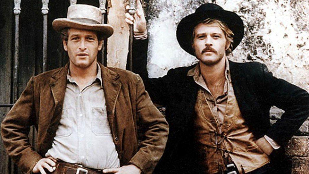 右為勞勃瑞福飾演的日舞小子(Sundance Kid)。 圖/《虎豹小霸王》...