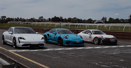 影/Taycan火力展示!保時捷911 GT3 RS與GT3 Cup賽車都不是對手?