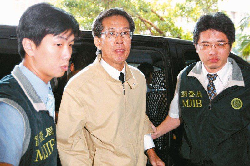 台灣前第一家庭陳水扁與吳淑珍的親信黃芳彥(中)在加州爾灣市持槍自盡。圖/聯合報系資料照片