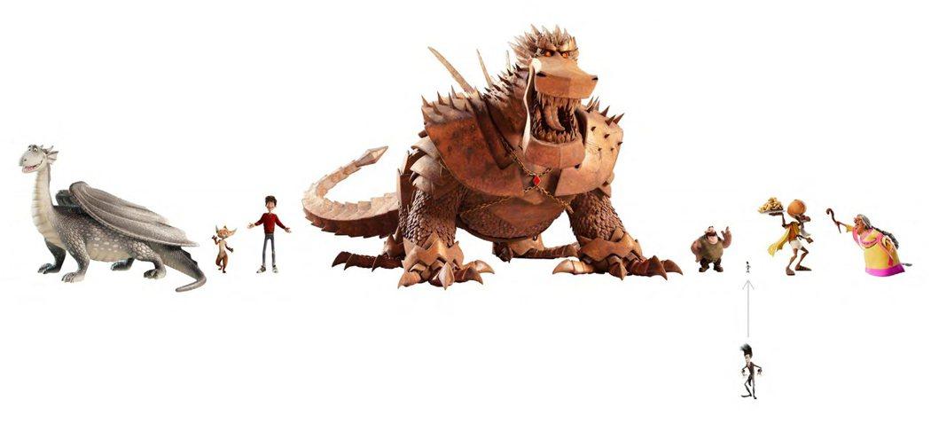 《銀龍出任務》對比銀龍和其他角色,反派金霸身形超級巨大。木棉花提供