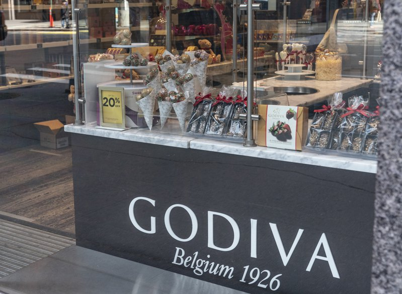 高級巧克力品牌GODIVA日前宣布,公司決定將於三月關閉或轉售在美國與加拿大的128家實體店面。路透/Sipa USA