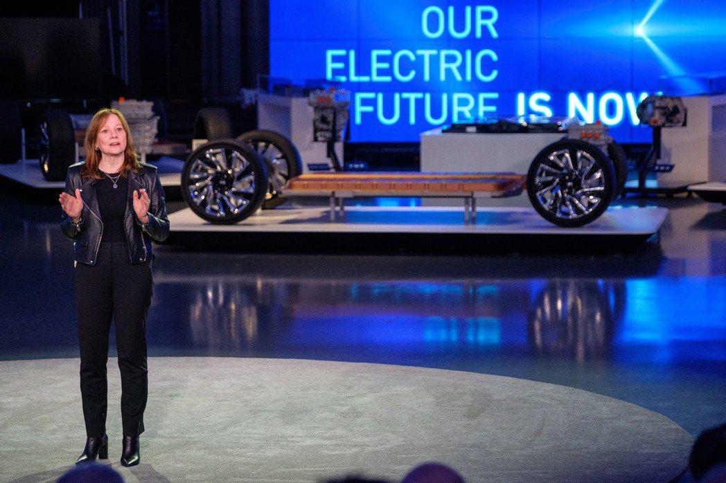 GM CEO Mary Barra。 摘自GM
