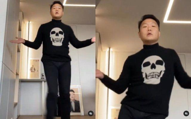 PSY跳舞替泫雅宣傳新歌。圖/擷自ig