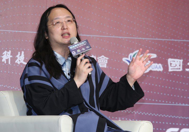行政院政務委員唐鳳今天出席華府智庫活動,分享台灣對抗假訊息經驗。報系資料照片