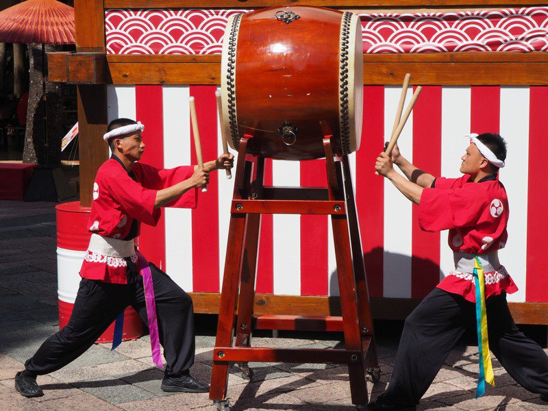 櫻花祭期間,活動繽紛多元。記者羅建怡/攝影