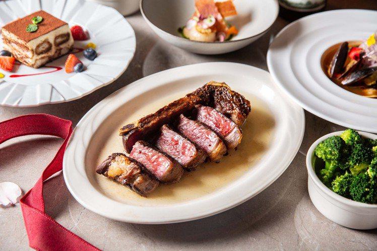 16盎司美國頂級帶骨紐約客牛排。圖/台北西華飯店提供