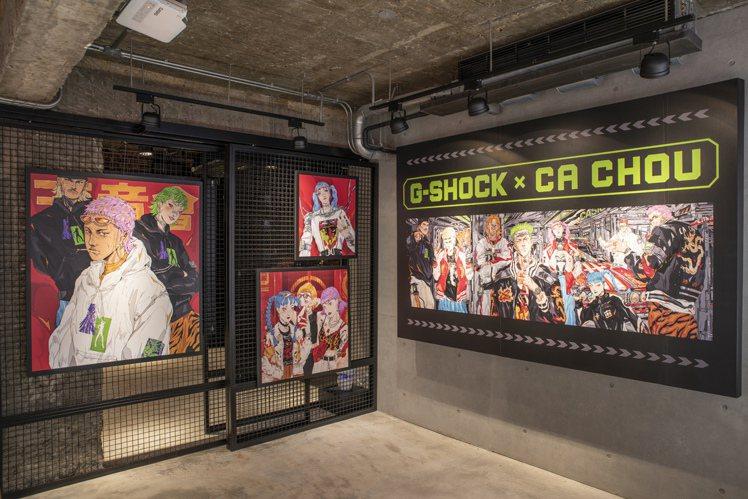 從即日起至3月31日止,G-Shock Taipei Store的店裝皆以周建...