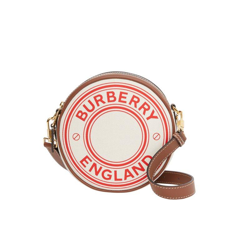 BURBERRY標誌圖案帆布及皮革Louise包款,39,900元。圖/BURB...