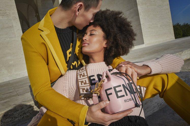 FENDI情人節系列的Mon Trésor迷你水桶包精緻浪漫。圖/FENDI提供