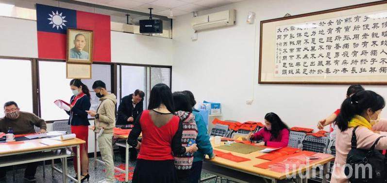 國民黨黨產遭凍結,台南市黨部以節儉方式辦活動。記者鄭惠仁/攝影