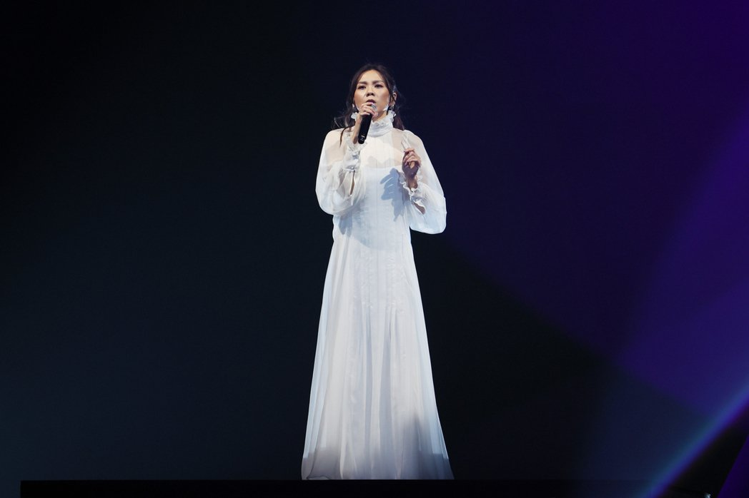 蔡健雅仙氣開唱。記者許正宏/攝影