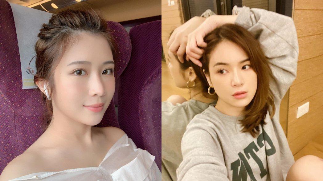 陳沂(右)質疑雞排妹(左)尾牙騷擾是在炒新聞。 圖/擷自臉書