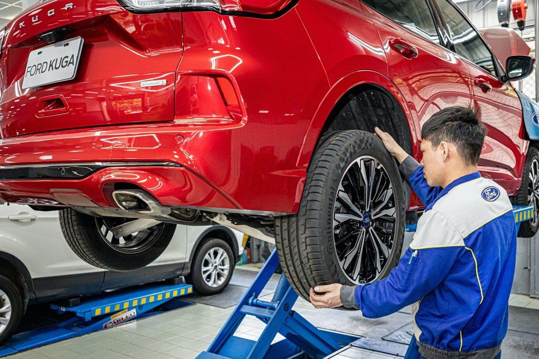 春節出遊行前檢查車胎磨耗狀況以及適當的胎壓,還關係著乘客在旅途中的舒適度。 圖/...
