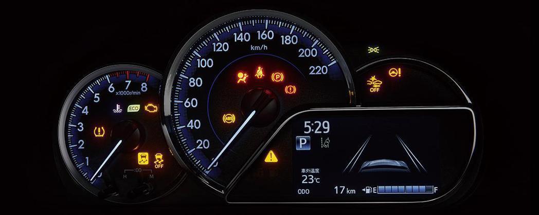 豪華以上車型換上全新儀表板。 圖/摘自TOYOTA TAIWAN官網