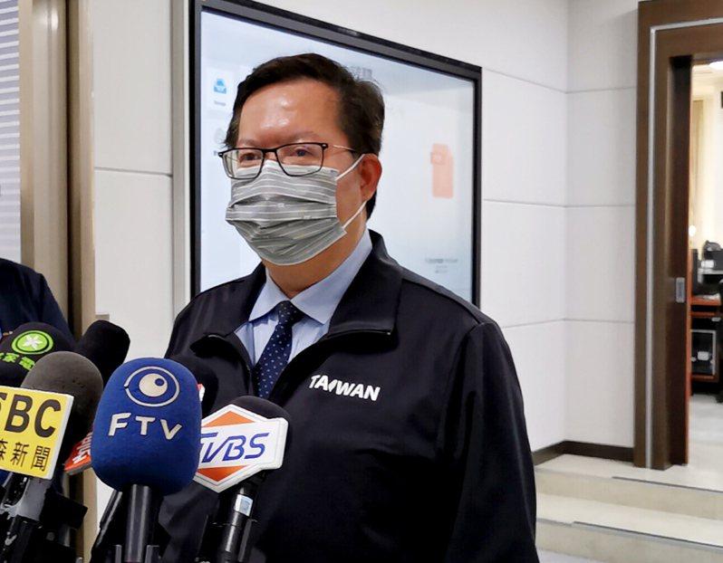 桃園市長鄭文燦表示。 圖/聯合報系記者曾增勳攝影