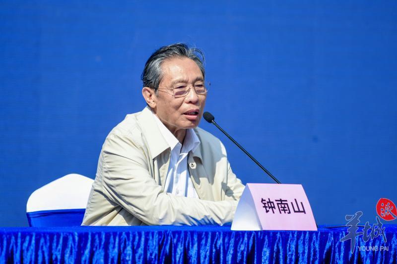 中國工程院院士、廣州實驗室主任鍾南山。(羊城晚報)