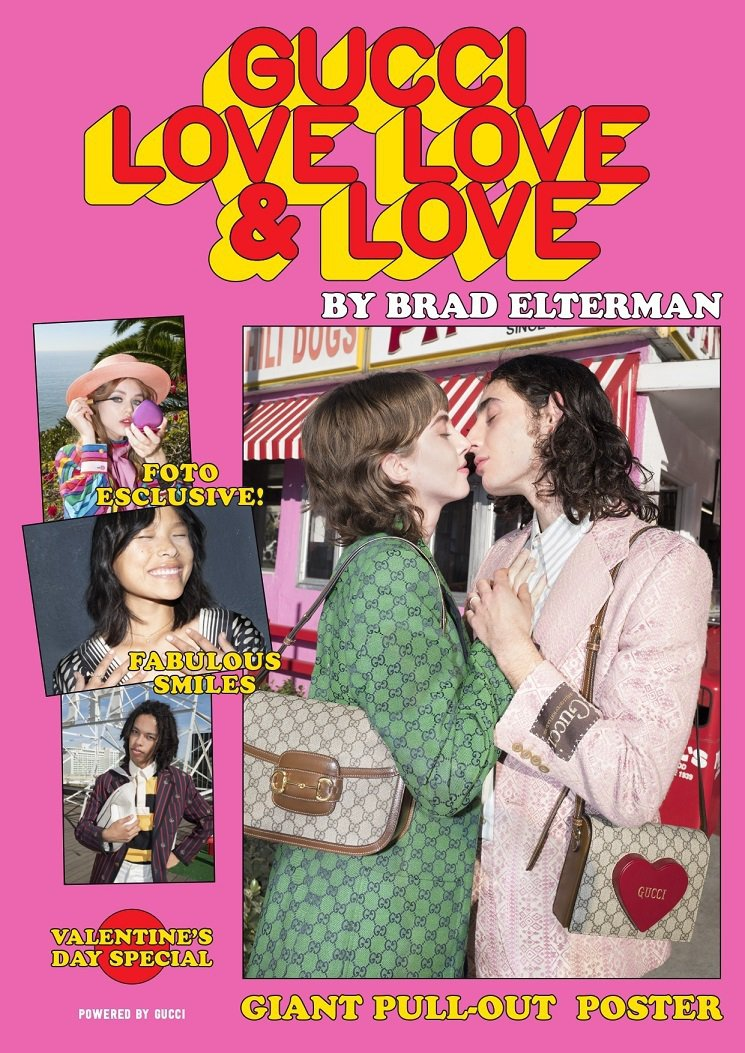 Gucci推出《Gucci Love, Love & Love》雜誌慶祝情人節。...