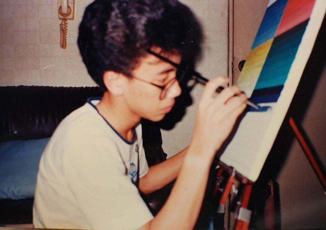 Marco就讀高職美工科時期就展現繪畫天份。圖/Marco提供