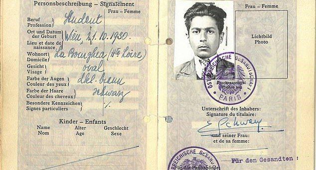 受小鎮庇護免於納粹迫害的奧地利人施瓦姆(Eric Schwam)。圖/取自dailymail