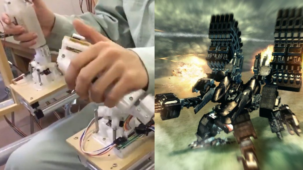 高中生將手把操作改造成駕駛搖桿&PS3《機戰傭兵5》美術圖 圖源:截自かみなり影...