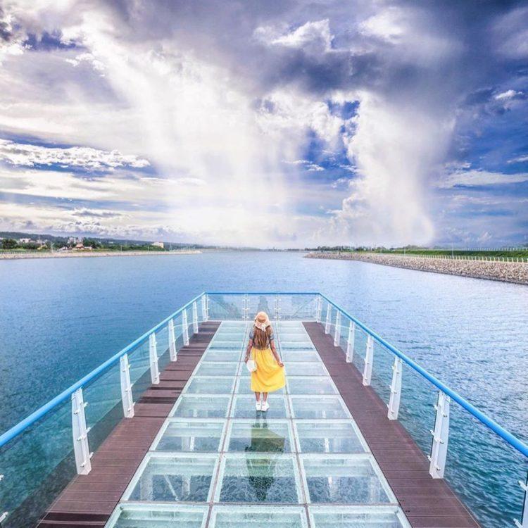 「中庄調整池」是台灣首座以協助穩定供水的人工湖,景色迷人,群山環繞 圖/IG@y...