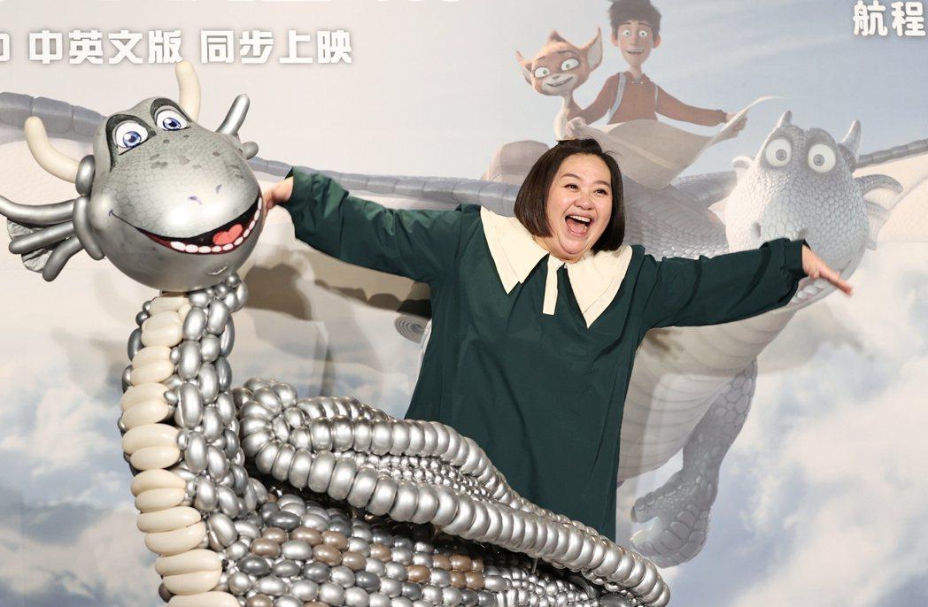 擔任「銀龍出任務」主角「飛克」中文配音的鍾欣凌出席首映會。記者侯永全/攝影