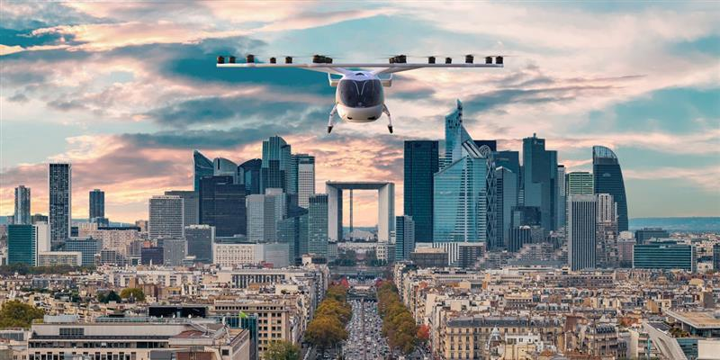 飛行在巴黎新凱旋門上的願景即將實現 /來源 : -volocopter.e.volo