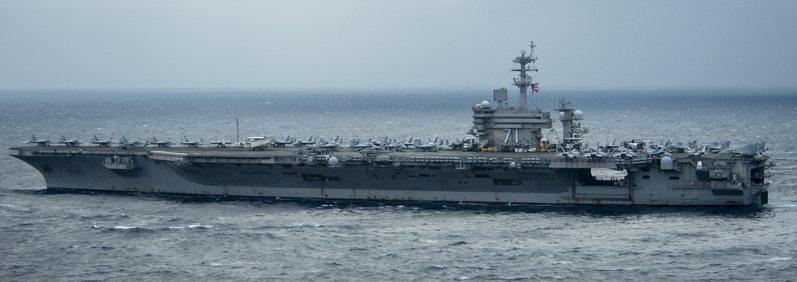 美國羅斯福號航空母艦本月廿三日進入南海。圖/美軍印太司令部官網