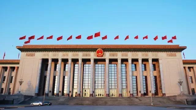 大陸全國兩會舉辦地,北京人民大會堂。(新華網)