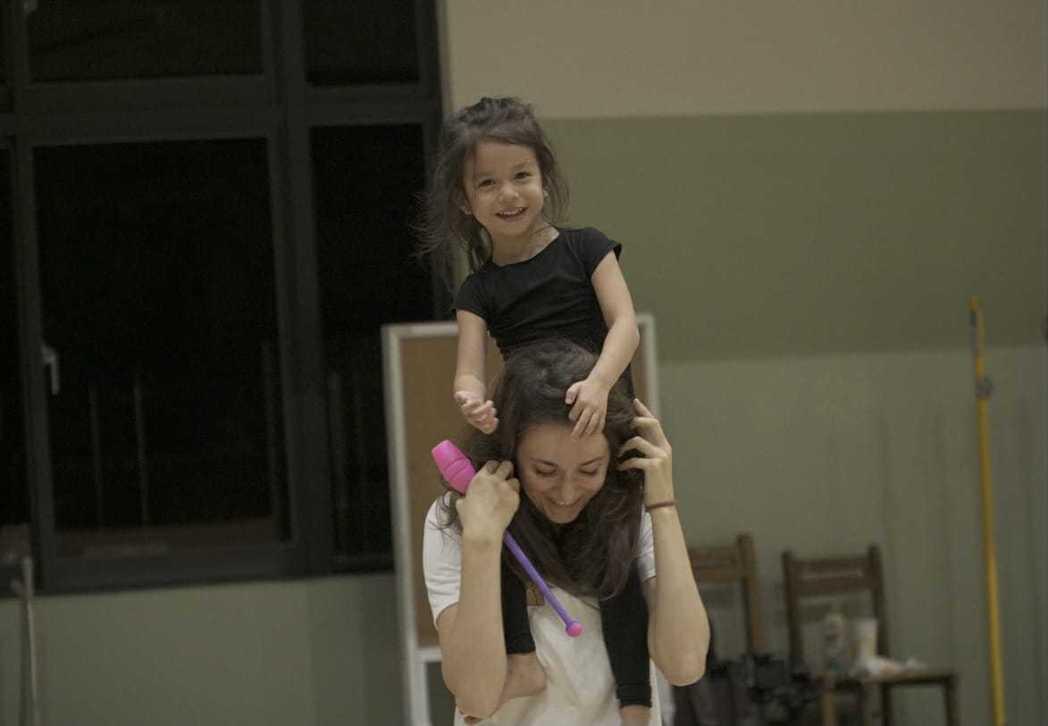 瑞莎透露女兒Nika對韻律體操也很有興趣。圖/瑞莎提供