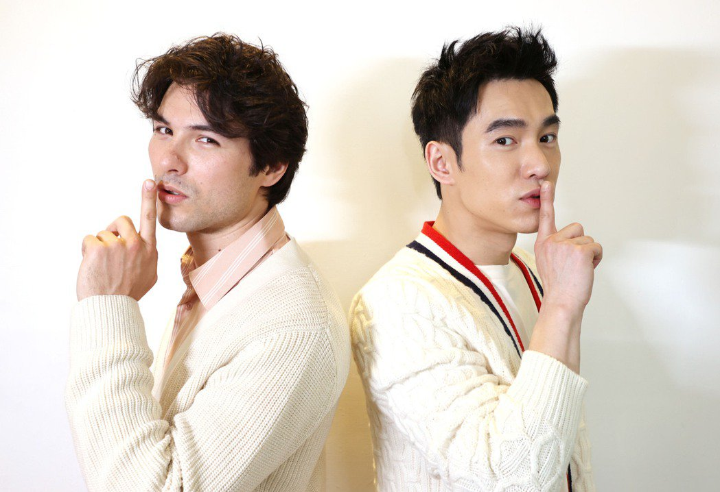 鳳小岳(左)、張書豪主演的「跟你老婆去旅行」是今年賀歲片。記者杜建重/攝影