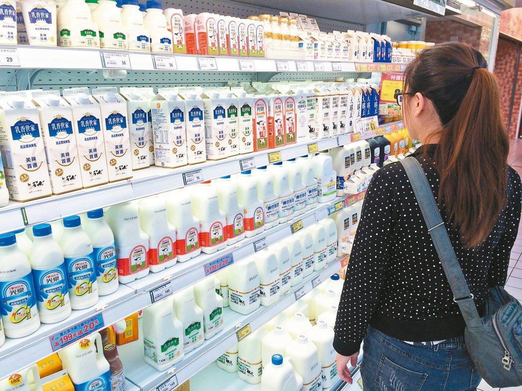 2014年的「牛奶事件」,造成乳品業大洗牌。 圖/聯合報系資料照
