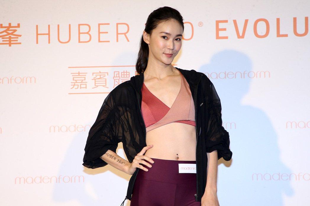 鍾瑶擔任媚登峯美型體驗嘉賓。記者胡經周/攝影