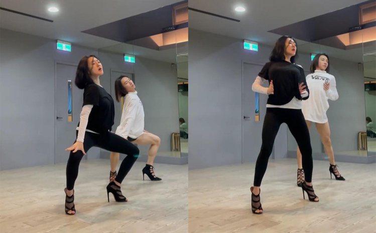 小S在IG分享跳舞影片。圖/擷自IG
