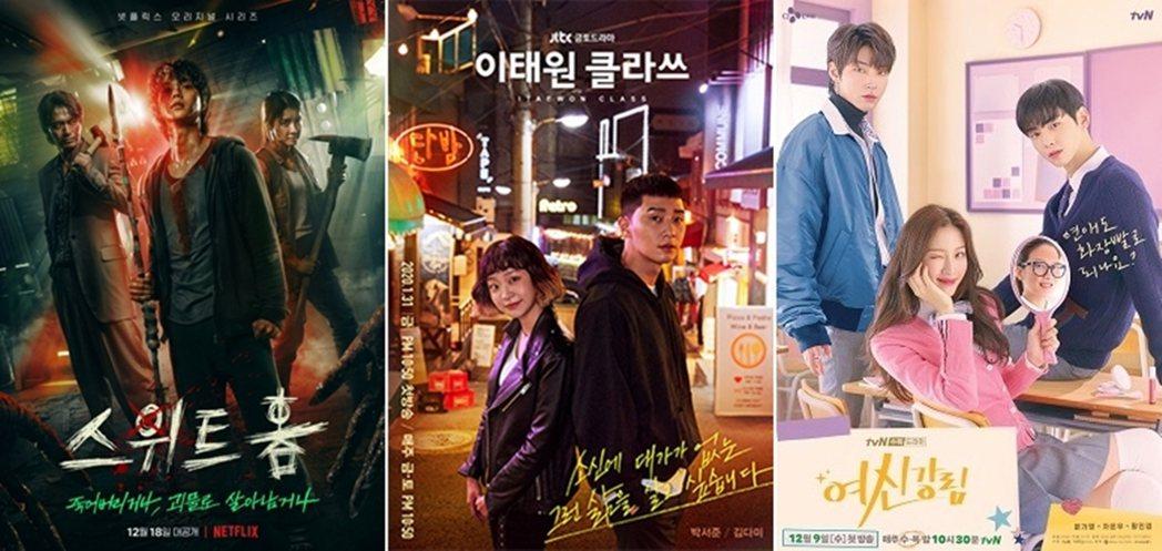 從年初由JTBC製作的《梨泰院 Class》,到年末的驚悚劇《Sweet Hom...