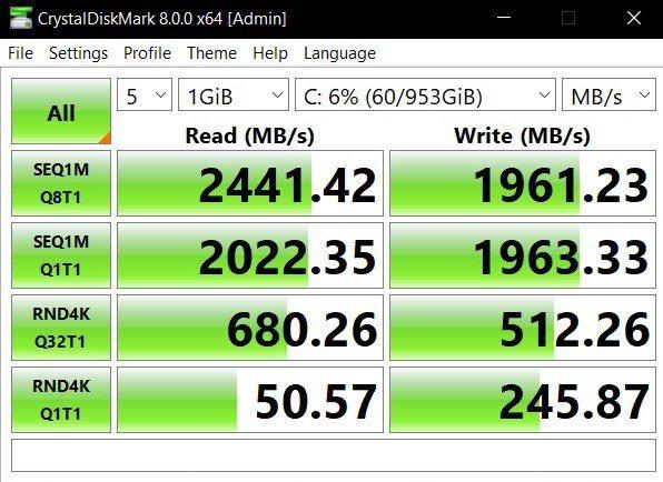 固態硬碟採用WD製品,效能中性。 彭子豪/攝影