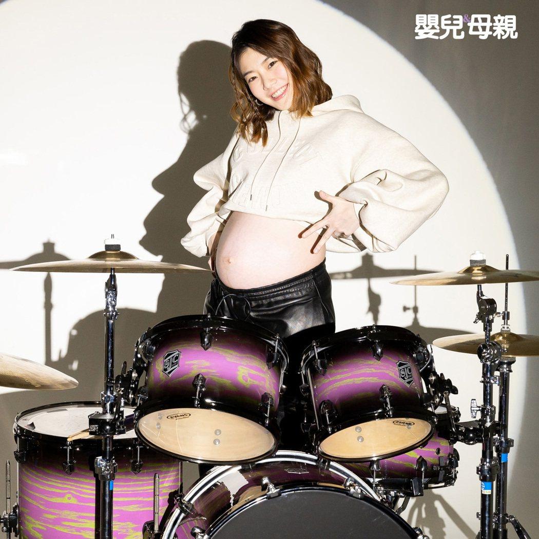 「最美鼓手」羅小白懷孕7個月。圖/嬰兒與母親提供