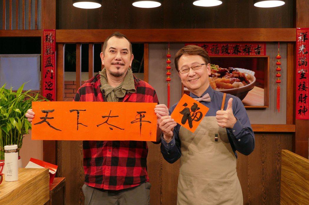 黃秋生(左)上李四端主持的「大雲時堂」。圖/MOMOTV大雲時堂提供