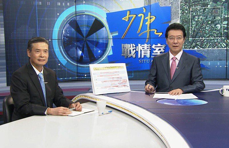 2014年馬英九原本屬意找趙少康(右)出任副閣揆,金溥聰(左)曾銜命溝通,但趙拒絕。圖/TVBS提供