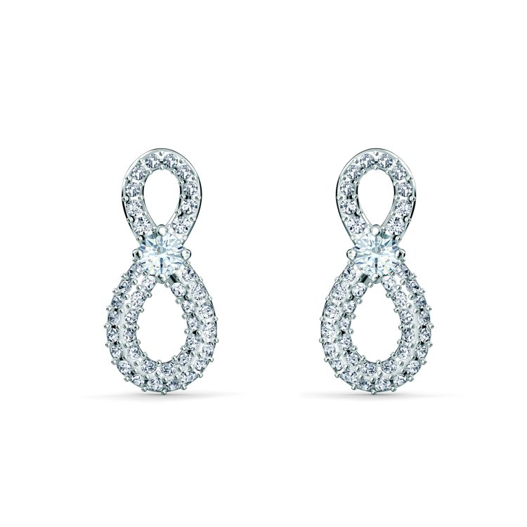 Swarovski Infinity穿孔耳環,2,490元。圖/施華洛世奇提供