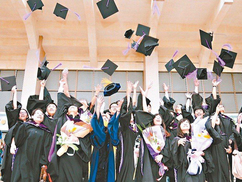 不少學生在選填大學科系時,會以未來就業為考量。圖為博士生畢業。圖/聯合報系資料照片