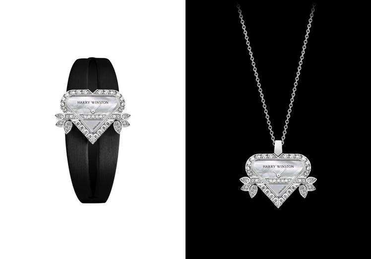 另一款同為Rosebud Heart頂級珠寶時計,可卸下表帶、成為高級珠寶項鍊,...