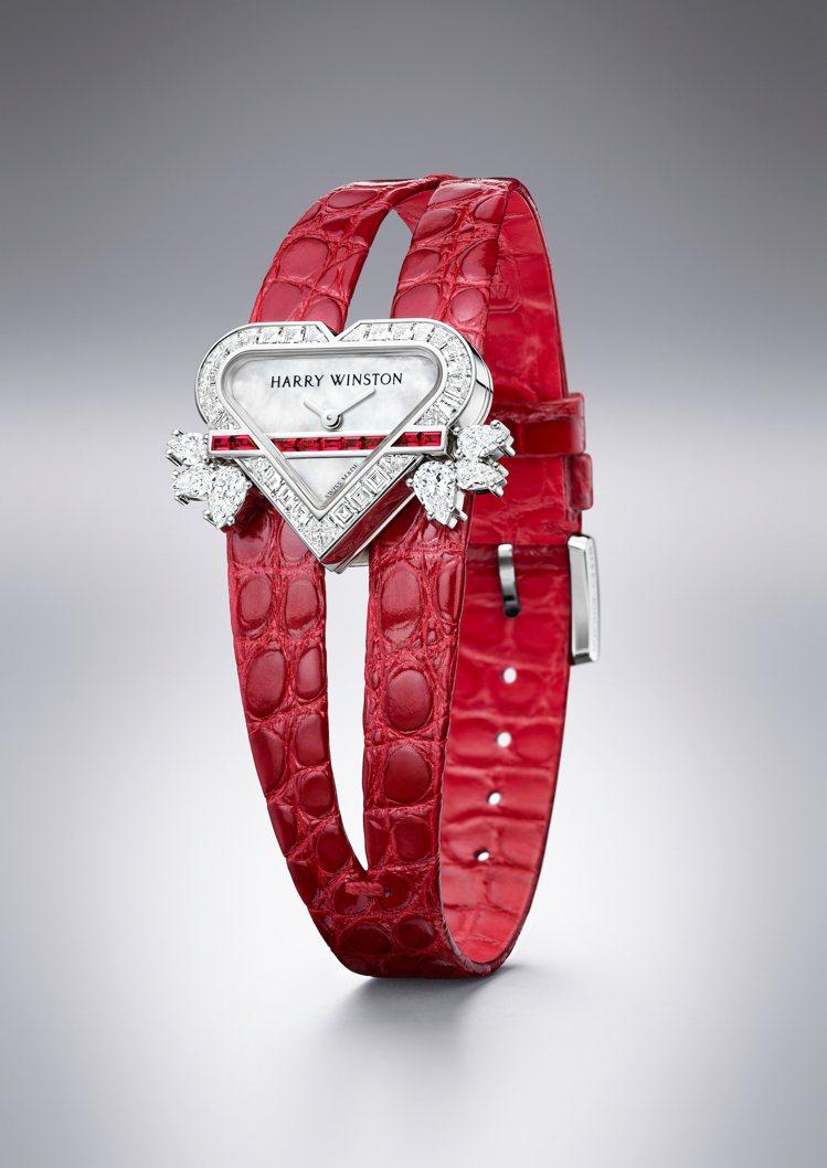 Harry Winston Rosebud Heart頂級珠寶時計,特殊表殼設計...