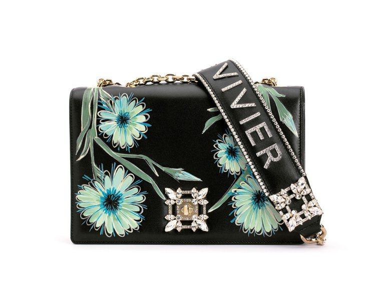 Miss Vivier Blossom鑽釦肩背包,14萬9,900元。圖/Rog...
