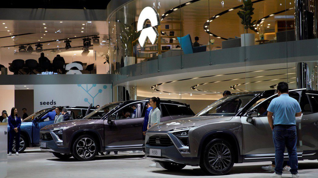 中國大陸電動車廠蔚來汽車1月份交車量再創新高,主力供應商緯創可望受惠。(路透)