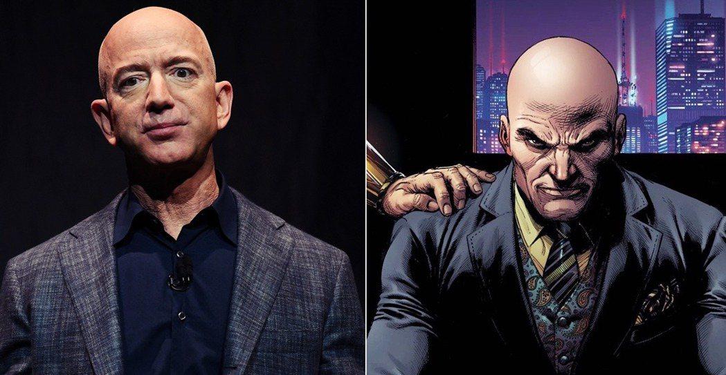 Amazon創辦人貝佐斯2日晚間正式宣布「交接計畫」。右為超人系列漫畫中的著名反...